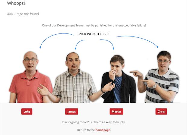 website development checklist Custom 404 page example