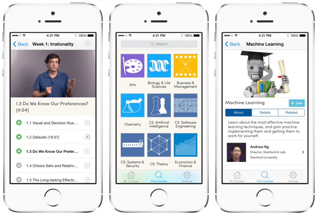Mobile app design must offer information in easy to consume format